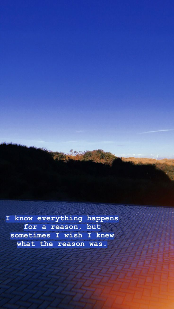 I Know Everything Happens For A Reason Inga Von Berg Berg