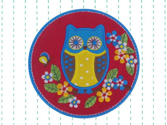 Add the personal touch with this cute owl.    Details:   Size of Patch: 3.54 x 3.54 (9 cm x 9 cm)  Fabric: corduroy, cotton polka dot, cotton