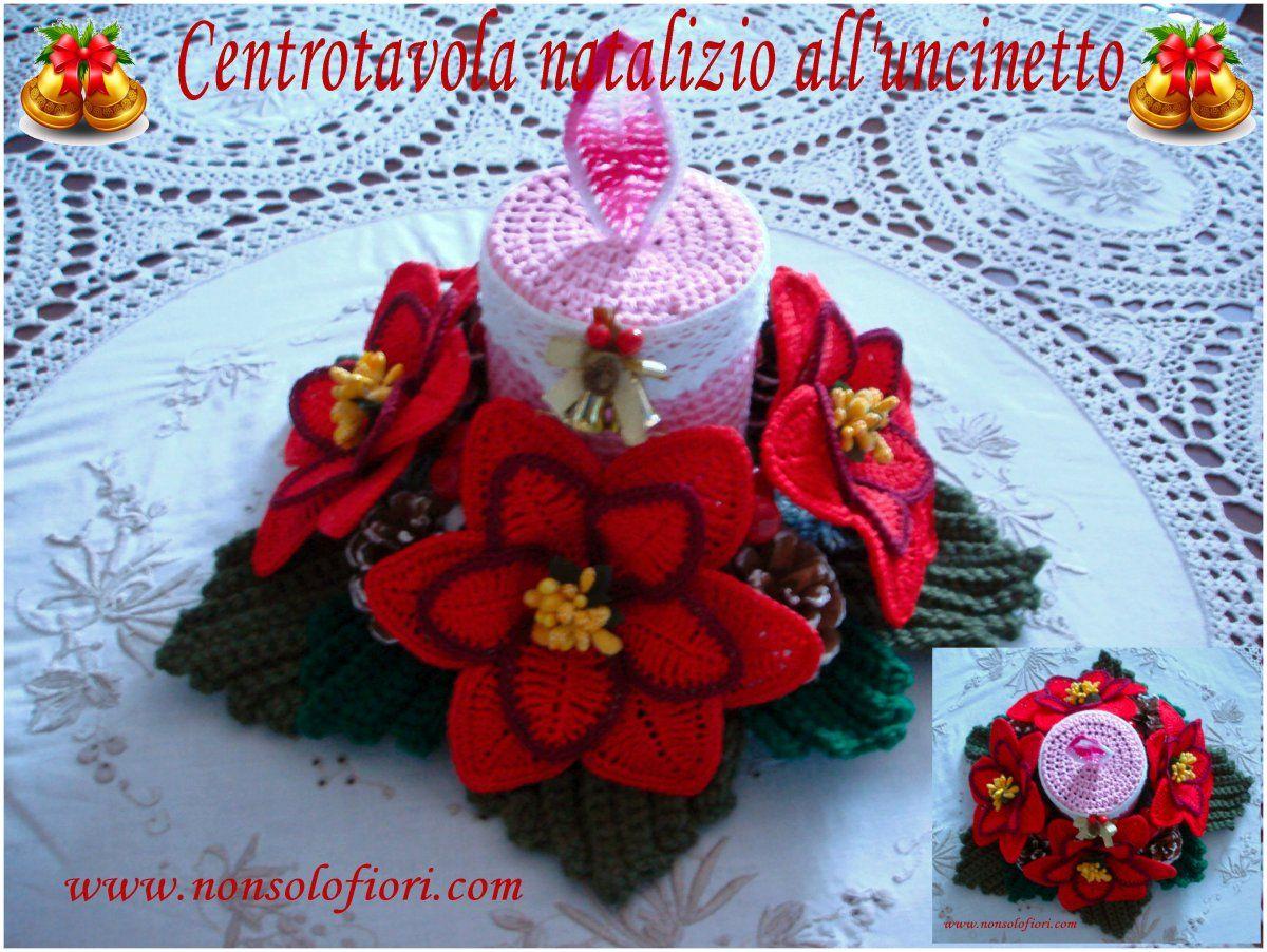 Centrotavola Natalizi Alluncinetto.Composizione Natalizia All Uncinetto Fioriuncinetto Artwork