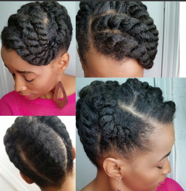 Freshly Defined Twist Out On Tapered Short Natural