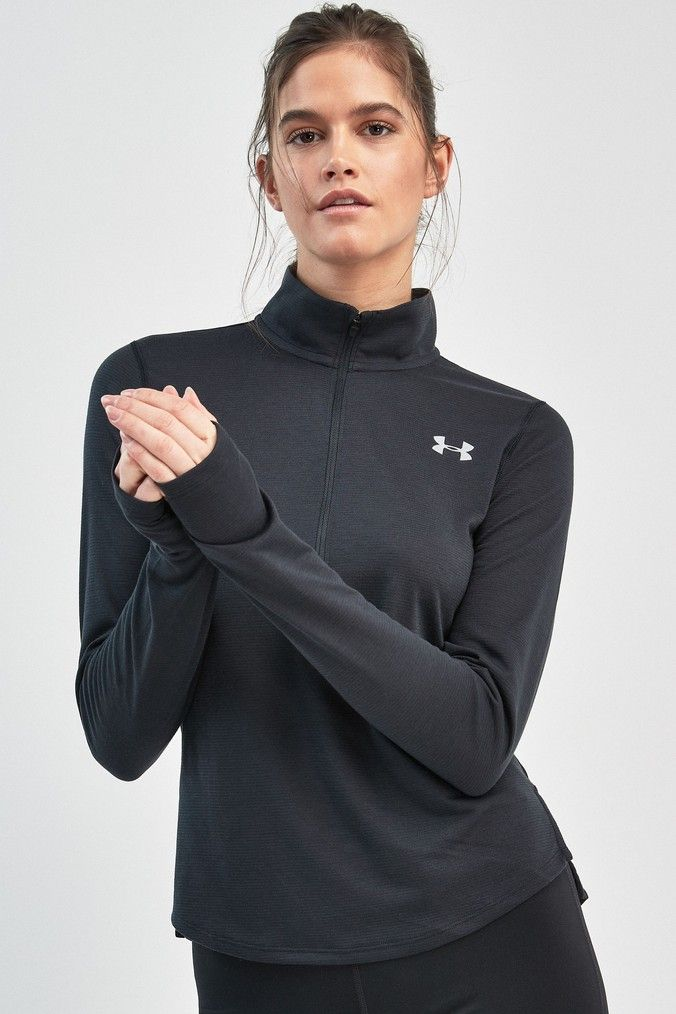 Womens Under Armour Streaker Half Zip - Black | Products ...