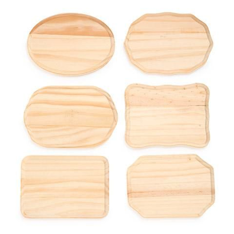 Set Of 6 Blank Unfinished Wooden Plaques 5 Inches X 7 Inches