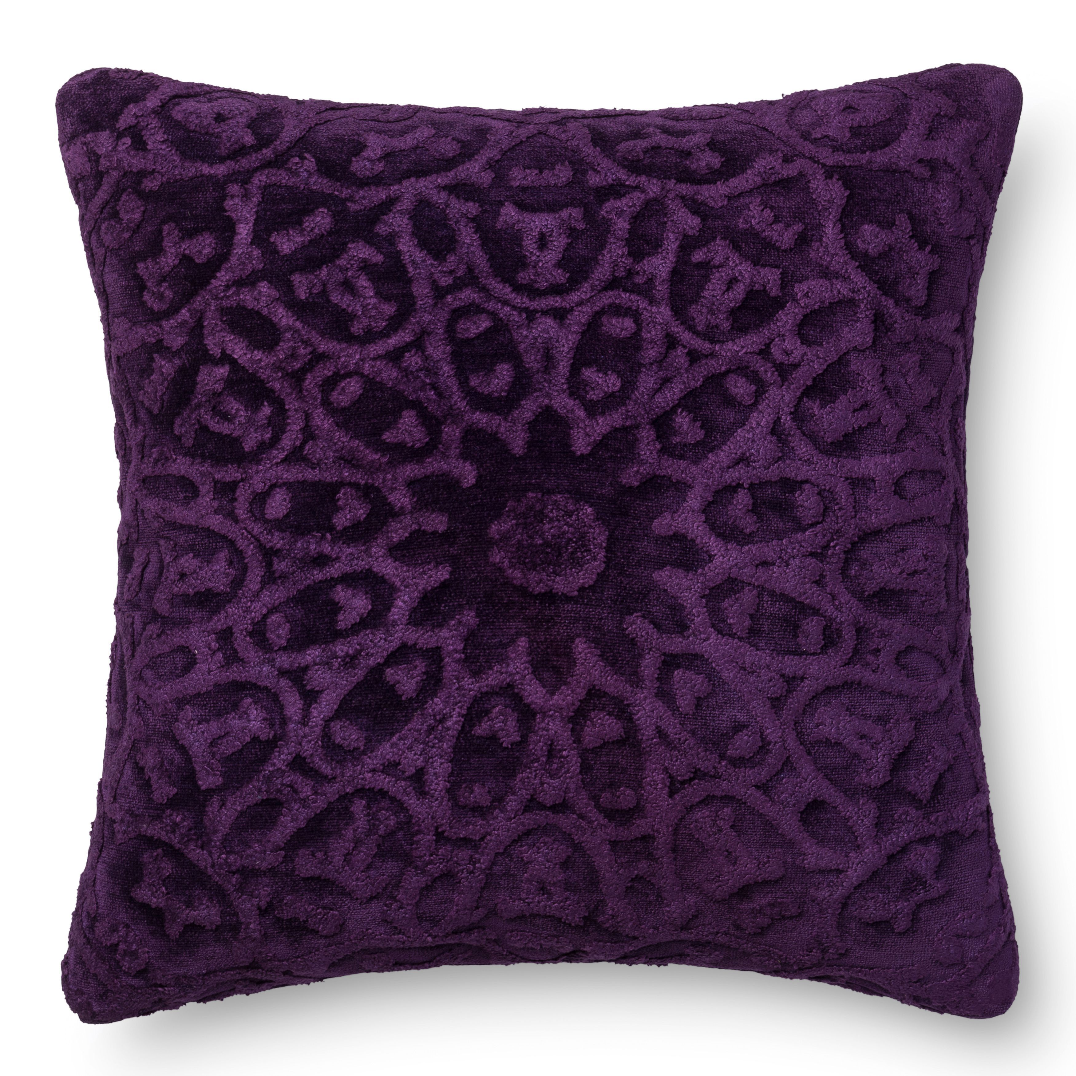 22X22 Pillow Insert Alexander Home Decorative Damask Purple Feather And Down Filled Or