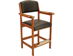 """Full back chair, Dimensions: 47"""" height, seat area 22x22 inches, full size is 47"""" h, 23"""" l and 26"""" w.  Available in Chocolate, honey, midnight and wine"""