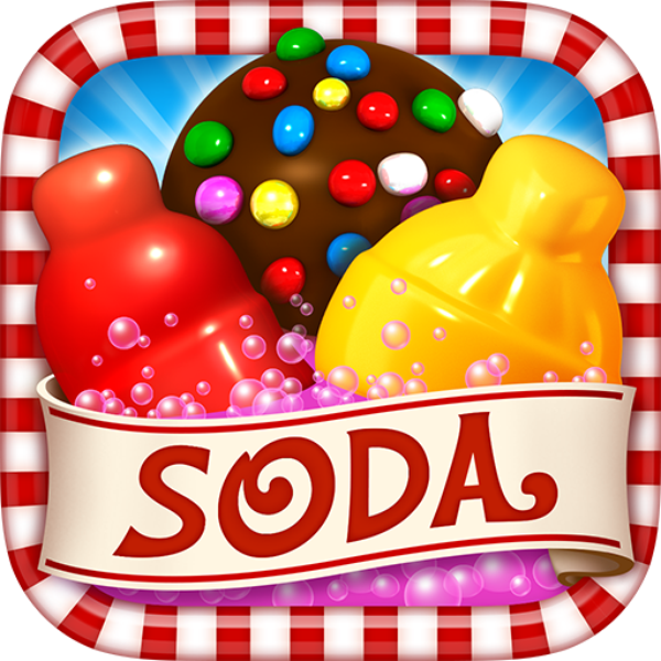 Candy Crush Soda Saga, Logo Candy crush soda saga, Candy