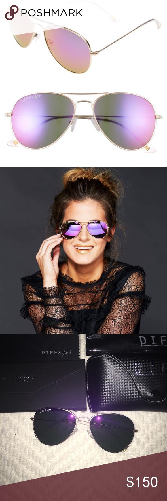 f1c3b45a32e56 DIFF x JoJo eyewear purple sunglasses ✨New✨ (no tags  never had any) DIFF  eyewear in collaboration with JoJo (was The Bachelorette) purple aviator ...