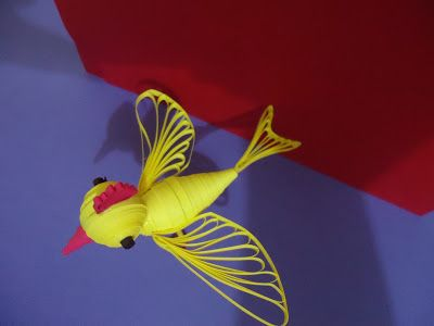 quilling creations: 3d quilled flying bird