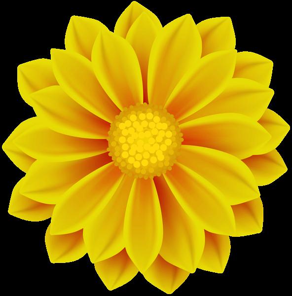 Yellow Flower Png Clip Art In 2021 Digital Flowers Flower Clipart Flower Painting