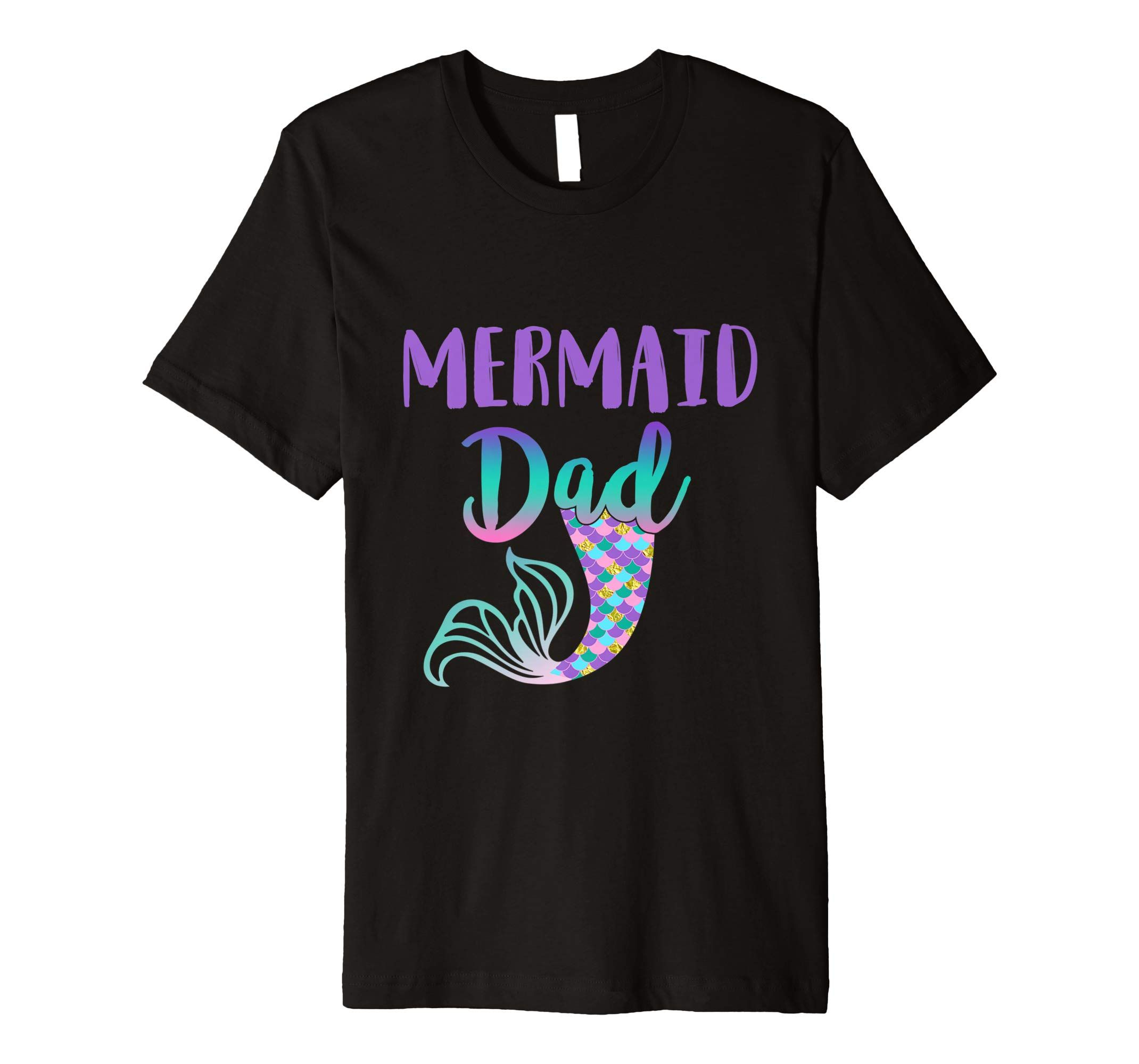 Mens Mermaid Dad Mermaid Birthday TShirt Tee