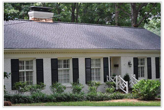 Gaf Pewter Gray With Copper Around Chimney House Paint Exterior House Exterior Roof Colors