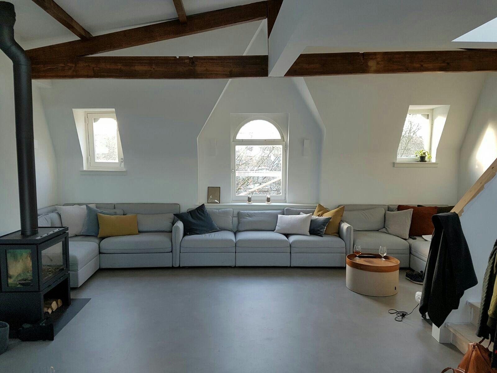living room inspiration grey couch chest furniture ikea vallentuna light   house pinterest lights ...
