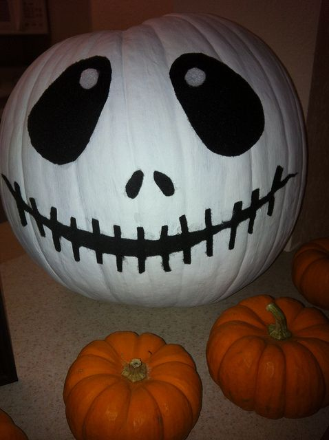 No carve pumpkin inspired by The Nightmare Before Christmas   image by Beth Weese, via Flickr