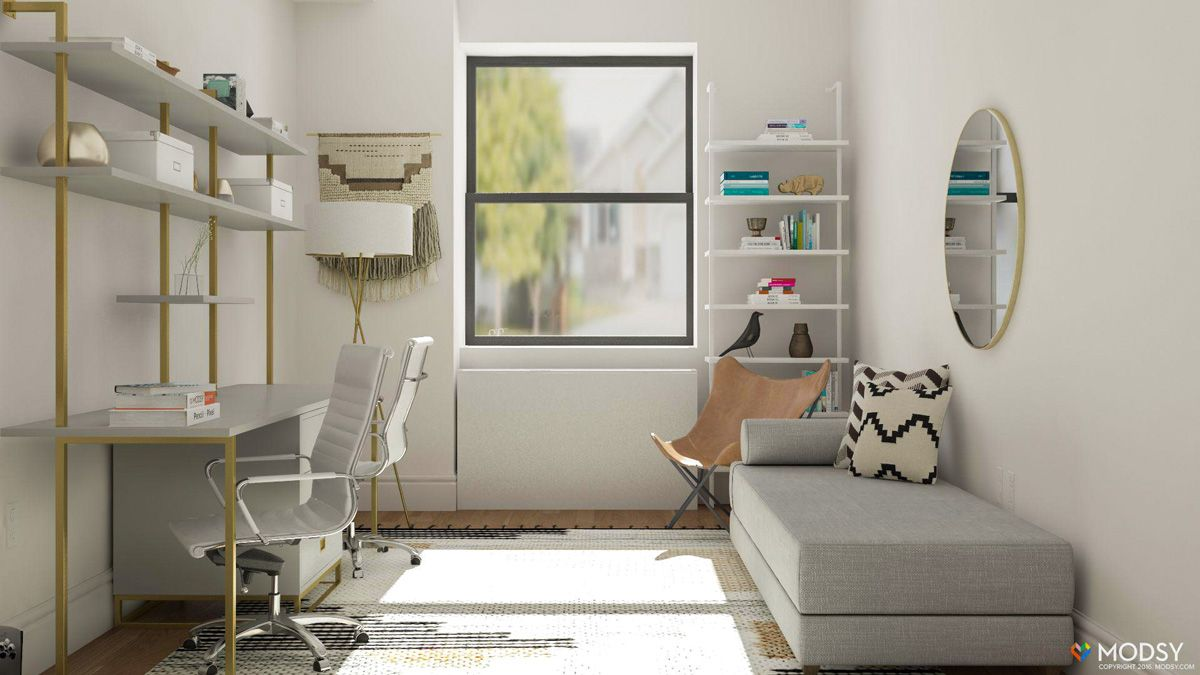 Simple Office Meets Guest Room Decorating Ideas Guest Bedroom