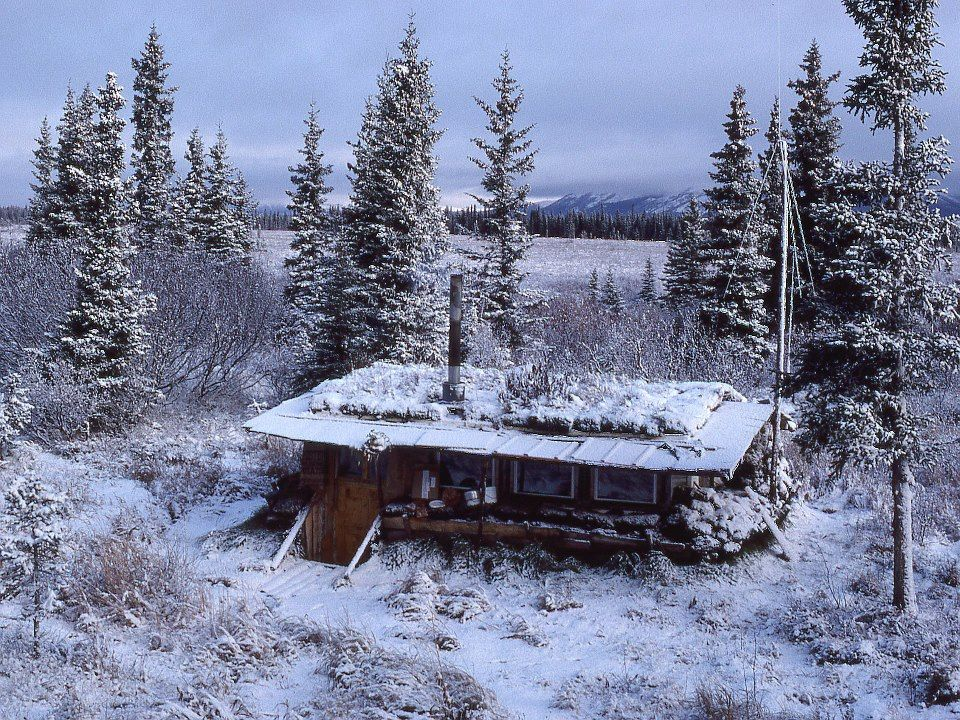 """little house on the tundra"" along the kobuk river, alaska. photo by zan crawkenna."