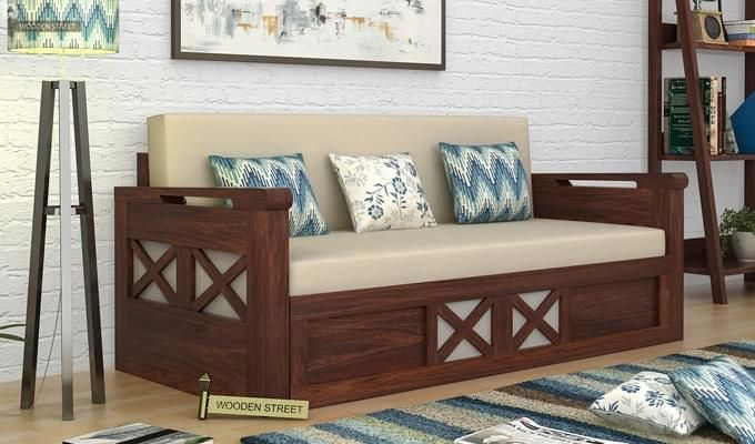 Best Buy Medway Convertible Couch King Size Walnut Finish 400 x 300