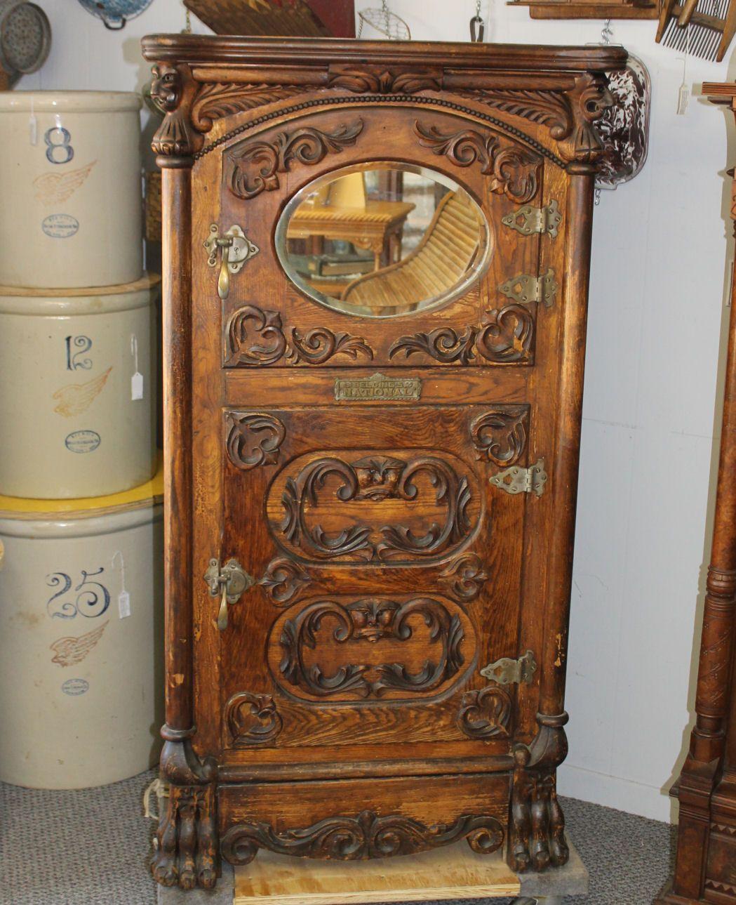 Bargain john 39 s antiques victorian ice boxes google for Reparacion de muebles antiguos