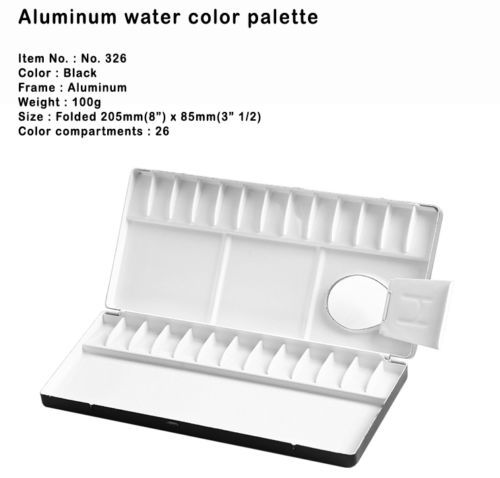 HEUNG IL Watercolor Painting Aluminum Palette Light 13//26//39//20//30//35//65 Wells