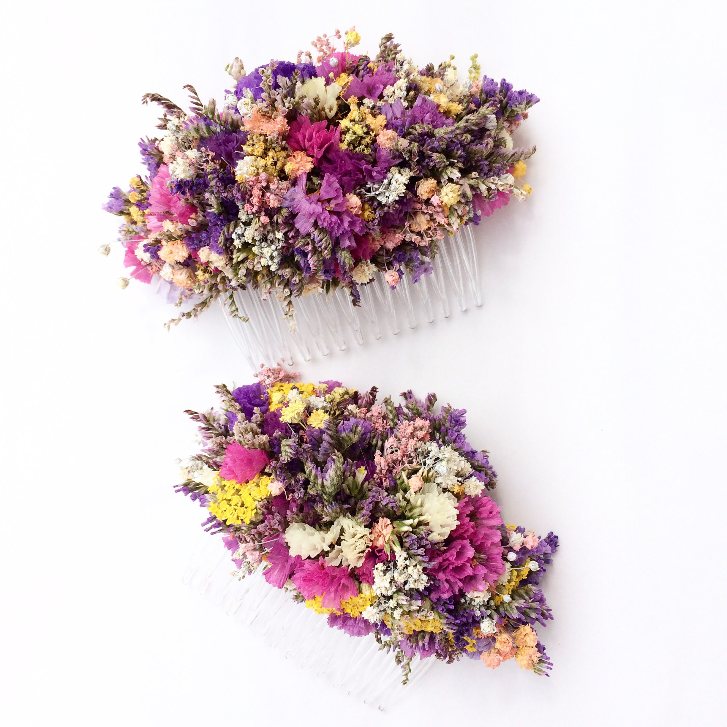 Wild English flowers hair combs available all natural