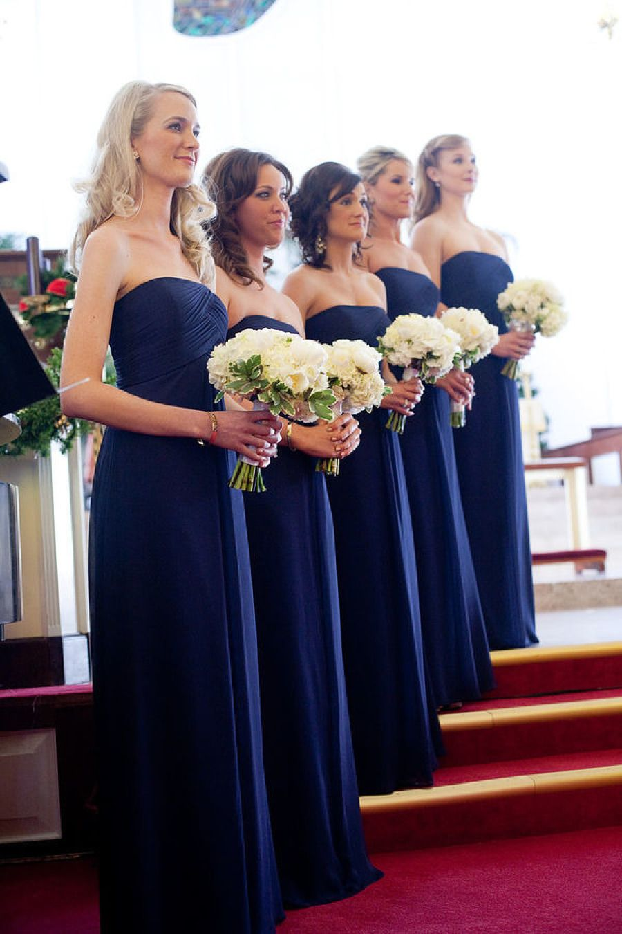 Elegant chiffon long strapless bridesmaid dress br bridesmaid