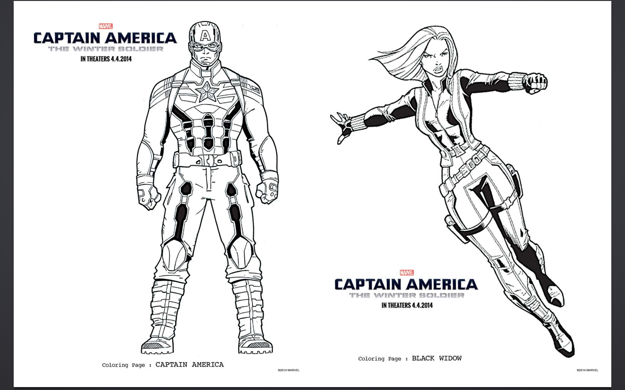 Captain America Black Widow Captain America Coloring Pages Superhero Coloring Pages Captain America Black Widow