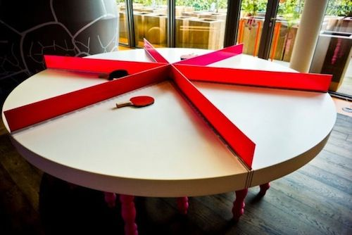6 way ping pong table new google london office random funny