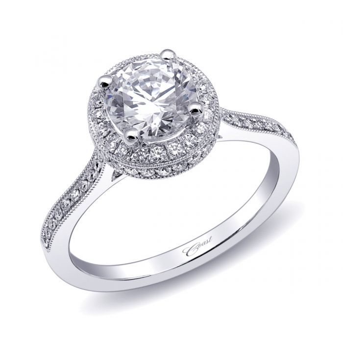 Coast Diamond Three Marriage Proposal Ideas And: Engagement Ring (#LC10064)