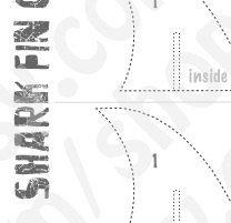 PDF: Shark Fin Cupcake Topper Template with Instructions