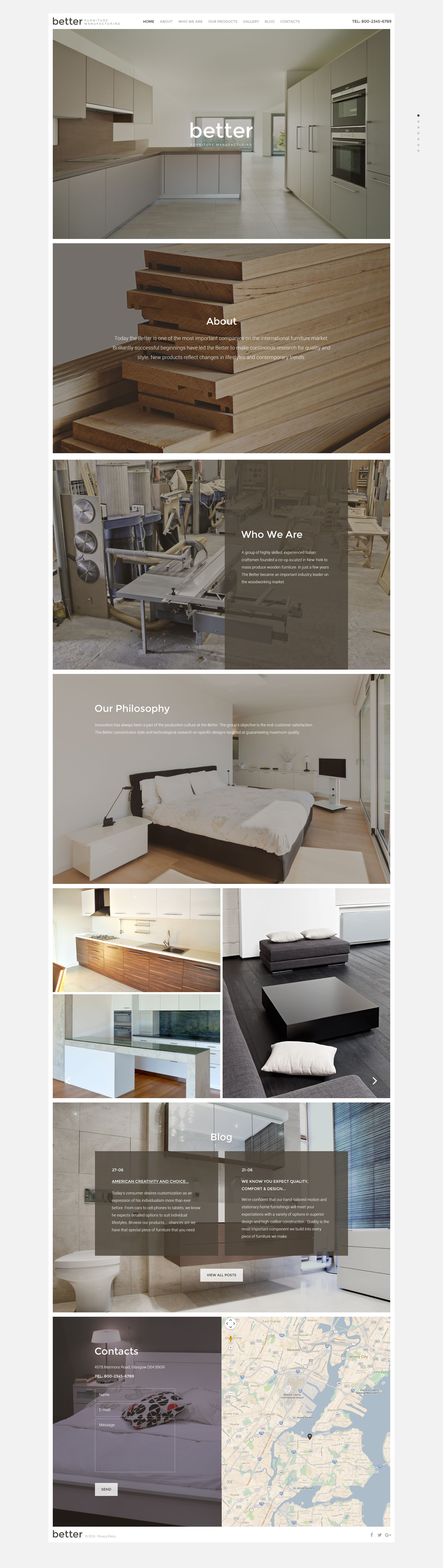 Better Furniture Manufacturing Website Template New Website