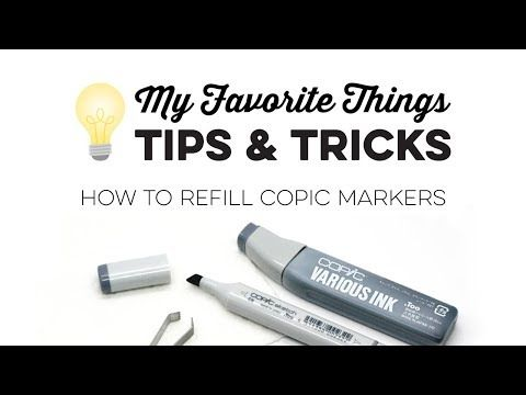 (15) Tips & Tricks - How to Refill Copic Markers - YouTube