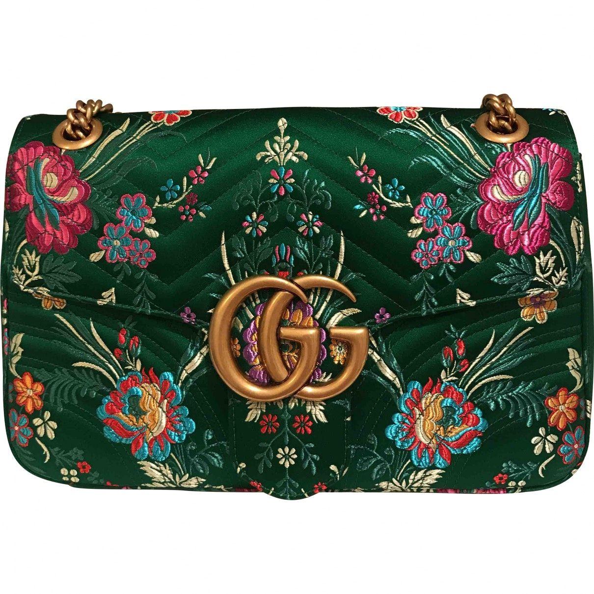 d2e96f0f0d7 GUCCI Marmont silk handbag