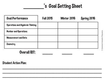 Nwea Student Goal Setting Sheet Nwea Nwea Map Goal Setting Sheet
