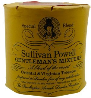 Vintage Pipe Tobacco Sullivan Powell Gentlemen (Paper wrapped tin). UK Made. This is one very rare tin. Medium Virginias, Oriental and not too heavy in the Latakia. Exceptionally smooth and with nigh on 34 years of age it will sing.