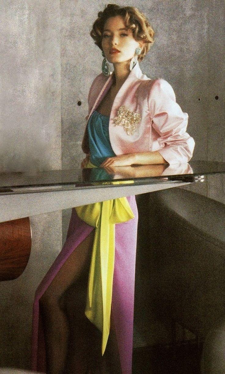 1992 Yves Saint Laurent Haute Couture with Lucie de la Falaise, Vogue Paris March