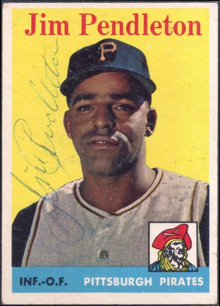 1958 topps jim pendleton autograph baseball history