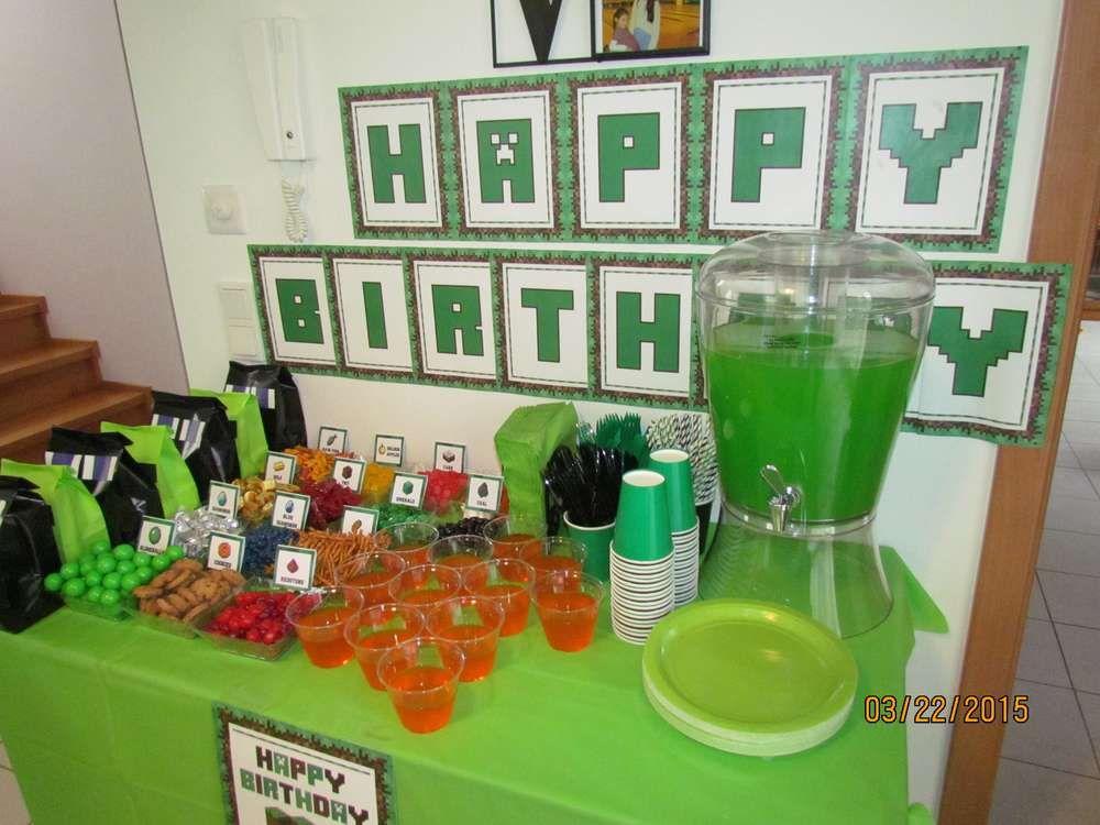 minecraft birthday party ideas minecraft party ideas minecraft rh pinterest com