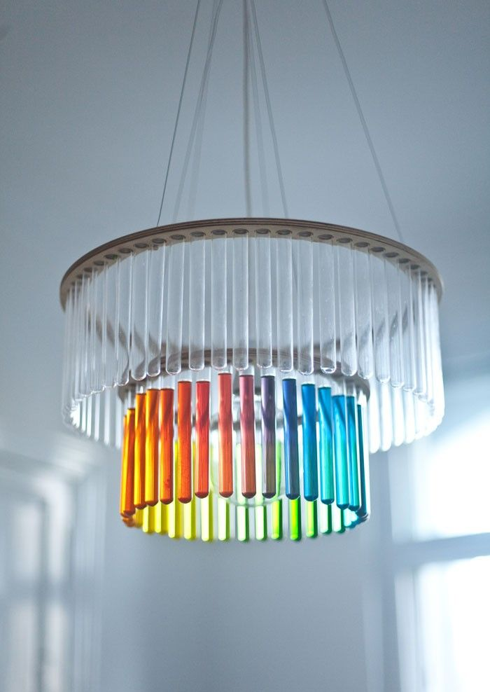The double maria s c test tube chandelier by polish designer pani jurek this contemporary light