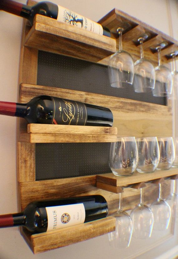 georgous golden oak stained wall mounted wine rack with shelves and decorative mesh wine and. Black Bedroom Furniture Sets. Home Design Ideas