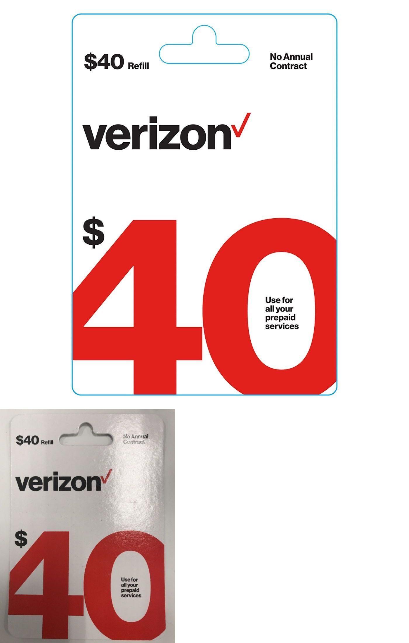 Phone and Data Cards 43308 Verizon Prepaid 40 Refill