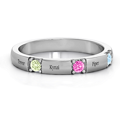 Elegant Three Gemstone Ring   Jewlr