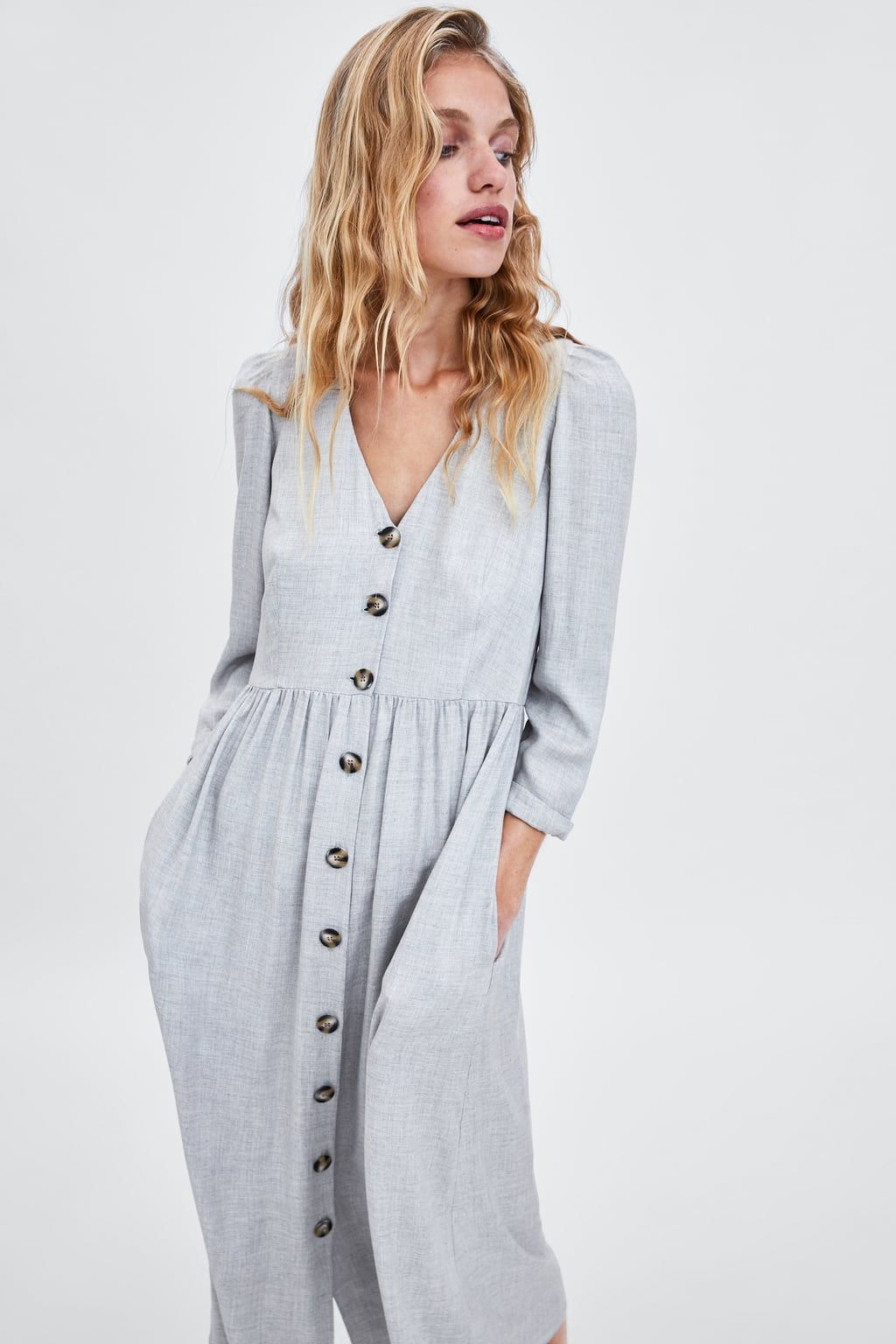 image 5 of buttoned dress from zara | skirt fashion, fashion