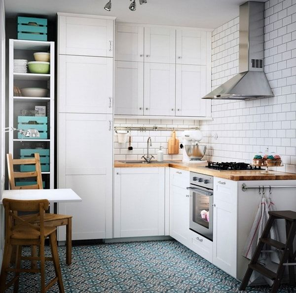 Cocinas peque as 6 ideas para decorarlas cocina peque a - Amueblar cocinas pequenas ...