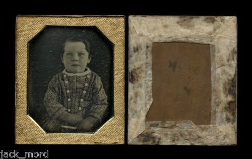 Early 1840s Sixth Plate Daguerreotype Photograph Little Boy Holding Object | eBay