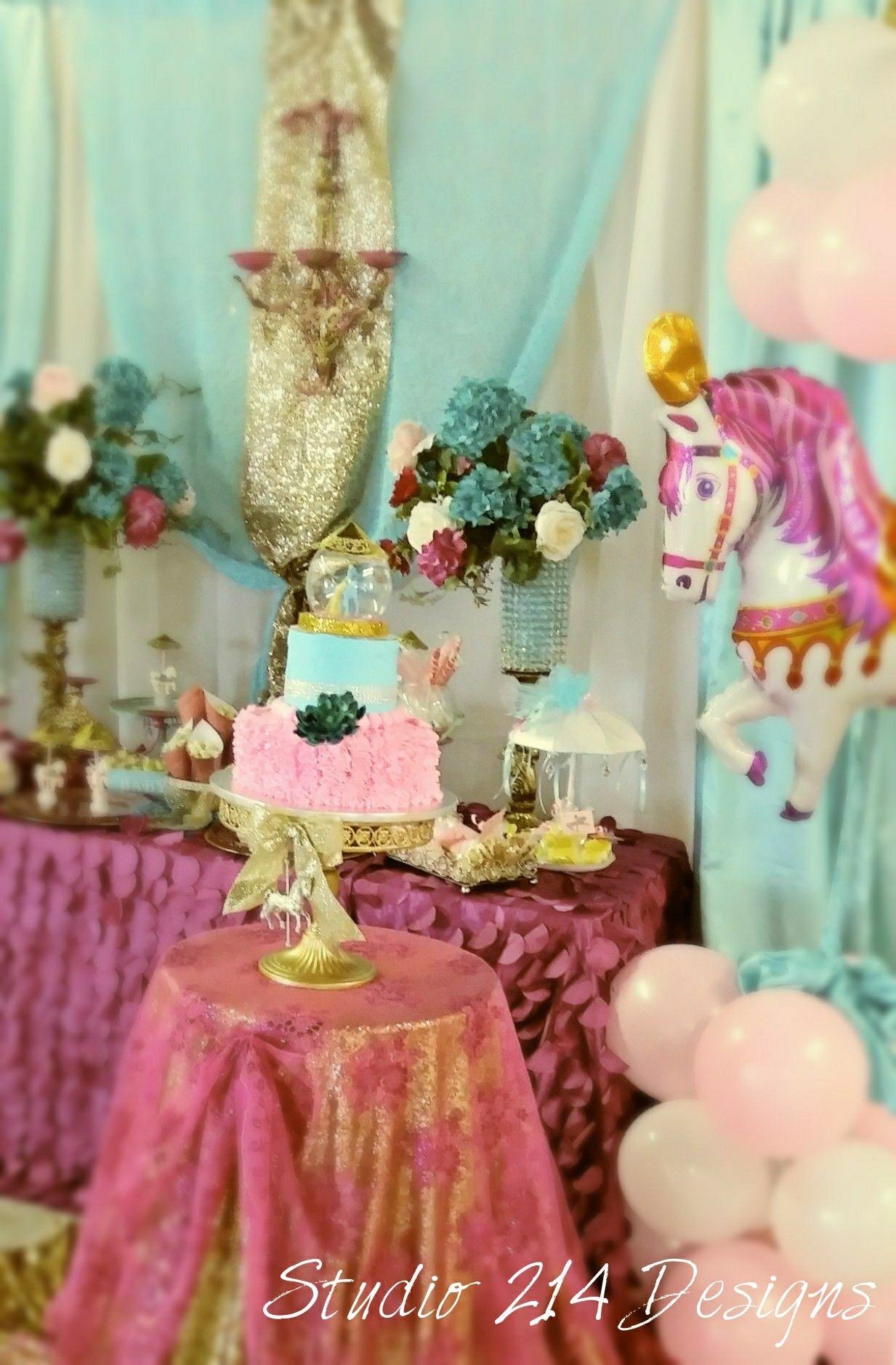 Carousel Party Dessert Table Carousel Party Dessert