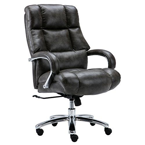 Best Lyon Big And Tall High Back Overstuffed Pu Leather Office 400 x 300