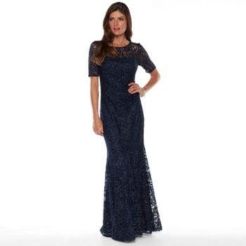 2ee87e18c241 Women's 1 by 8 Glitter Illusion Lace Evening gown | MOB dress | Lace ...