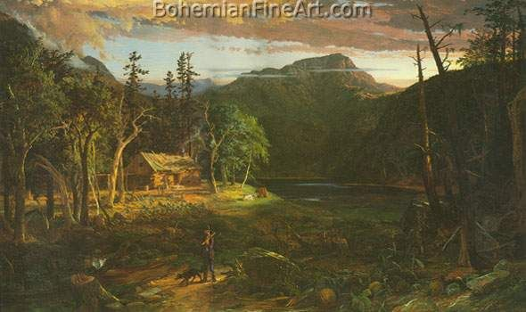 Jasper Francis Cropsey The Backwoods Of America Fine Art