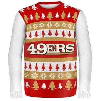 41b42211512 San Francisco 49ers Wordmark Ugly Sweater