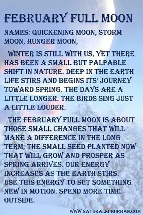 February Full Moon Meaning The Sorceress Pinterest February