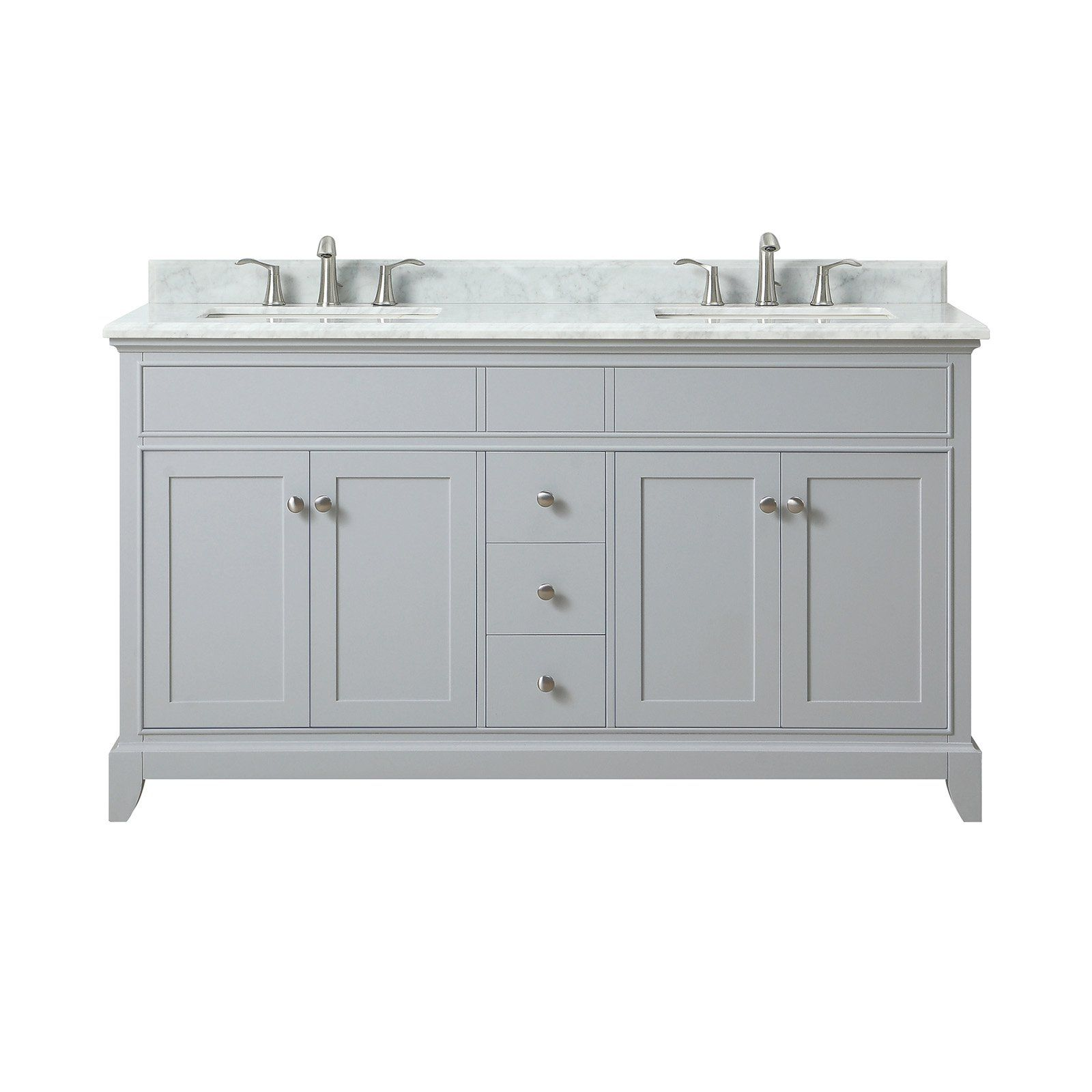 Azzuri Aurora 61 In Double Sink Vanity Size 73 In Marble