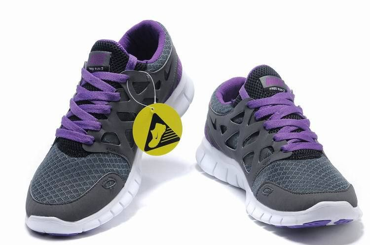 Nike Free Run 2 Mens Size 12 Carbon Gray Purple Running Shoe Nike Frees  Sneakers off